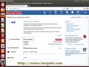Cherokee Admin Interface