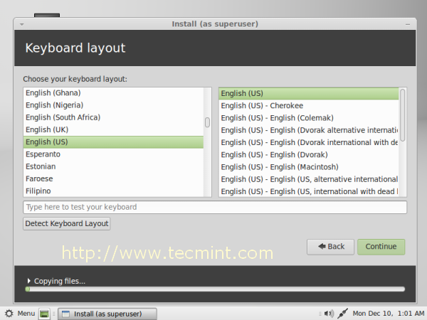 Linux MInt 14 Keyboard