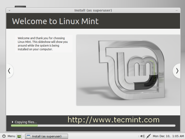 Linux Mint 14 Installation