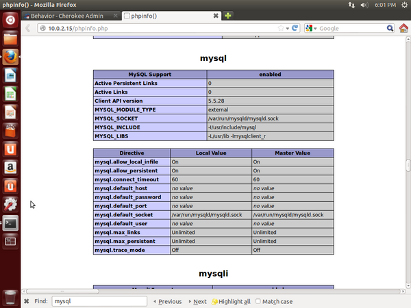 mysql support for Cheorkee