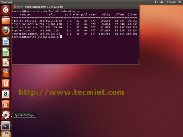 Monitor NTP Service