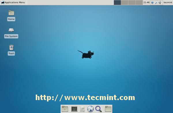 XFCE Desktop Screen