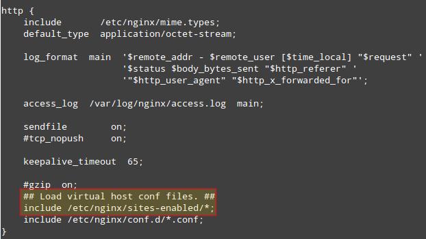 Configuring Nginx VirtualHost