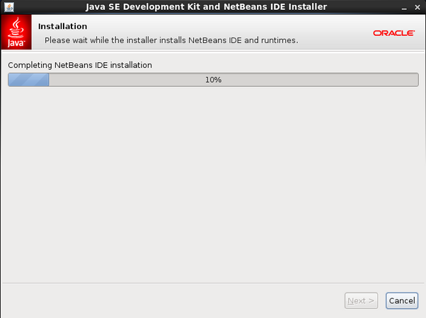 Completing NetBeans IDE installation