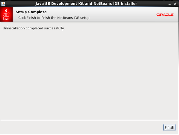 NetBean IDE Uninstall Completes