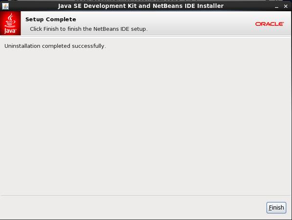 NetBean IDE Uninstall Completes