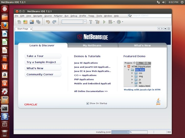 NetBeans IDE Running on Ubuntu