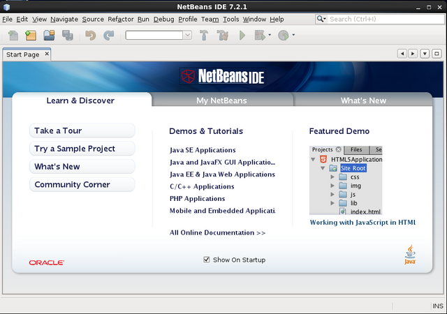 Start NetBeans IDE