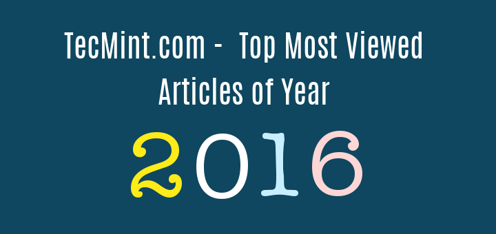 Top Linux Articles of Year 2016