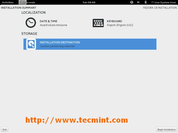 Fedora 18 Basic Installation