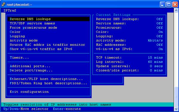 IPTraf Configure