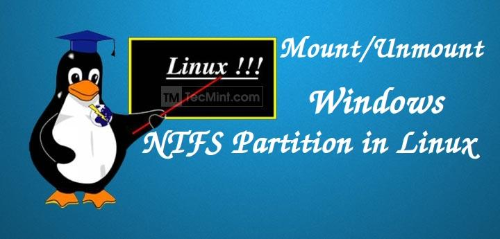 how to mount windows drive in linux