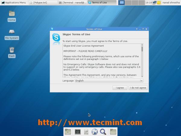 Start Skype on Fedora 18