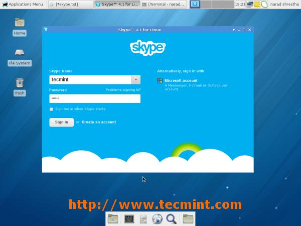Skype Running on Fedora 18