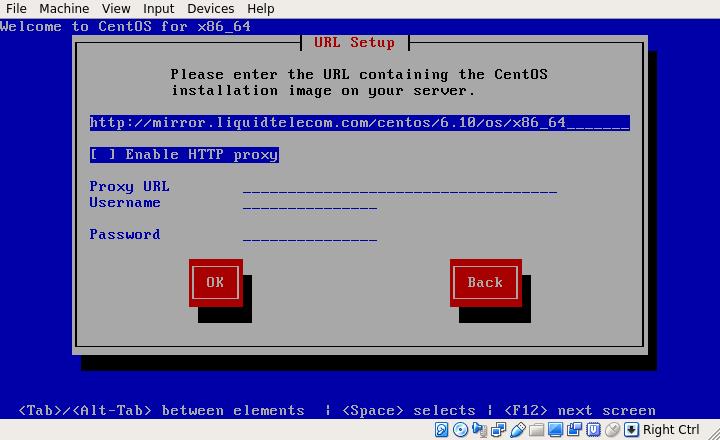 CentOS 6.10 Network Install URL