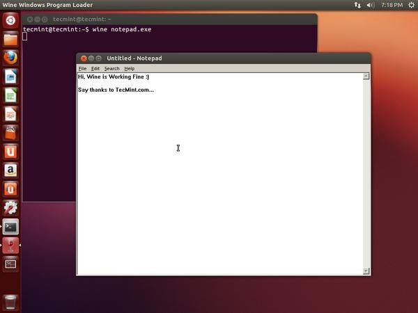 Start Wine in Ubuntu