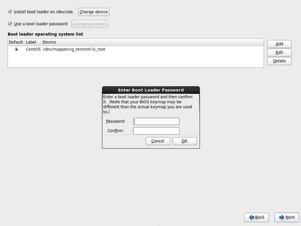 Set Boot Loader Password