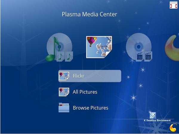 Plasma Media Center Screenshot