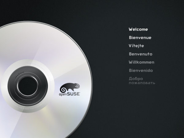 Boot OpenSuse 12.3 DVD
