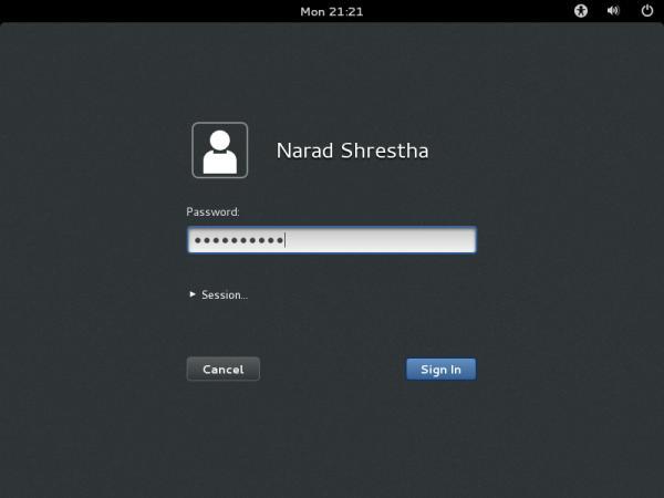OpenSuse Login Screen