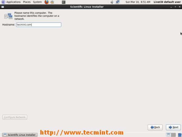 Add Hostname in Scientific Linux