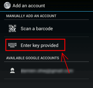 Google Authenticator Secret Key