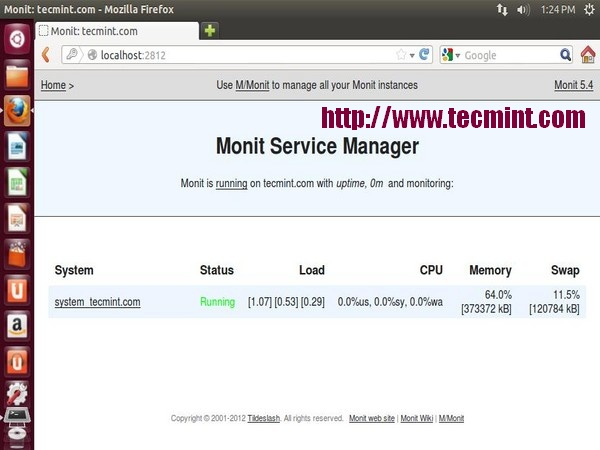 Install Monit in Fedora
