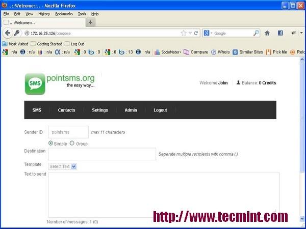 PointSMS Web Portal