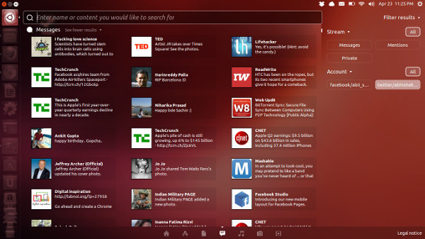 Ubuntu Social Lens