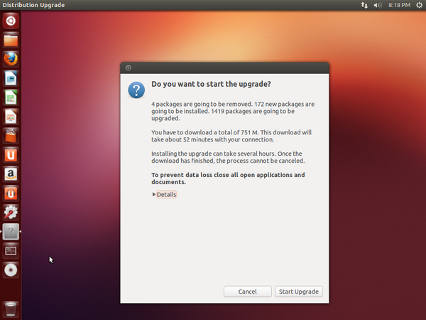 Start Ubuntu Upgrade