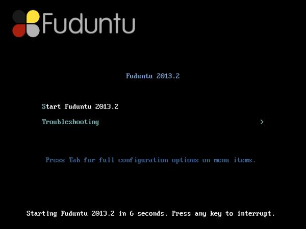 Boot Fuduntu ISO Image