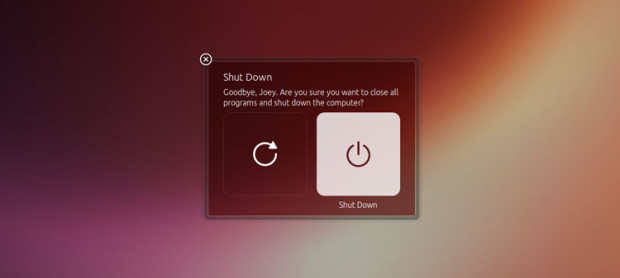 Ubuntu New Shutdown Dialogs