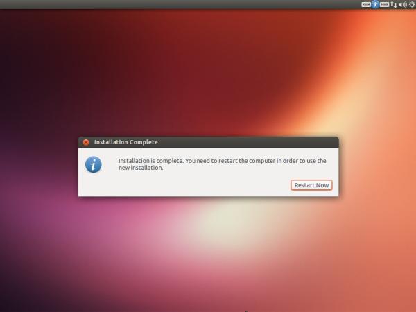 Instalación de Ubuntu 13.04 completada