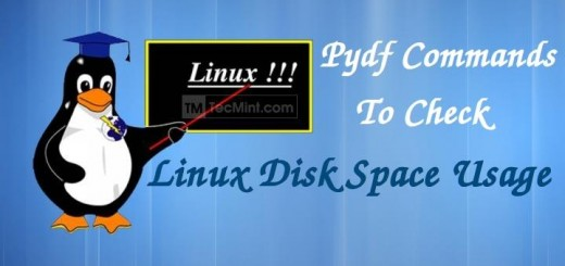 Pydf Command to Check Disk Usage