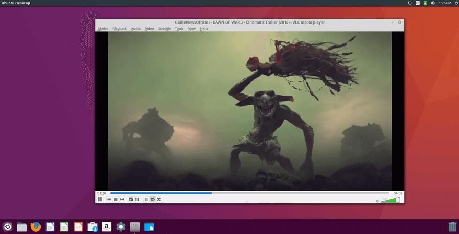 VLC Player Running on Ubuntu 16.04