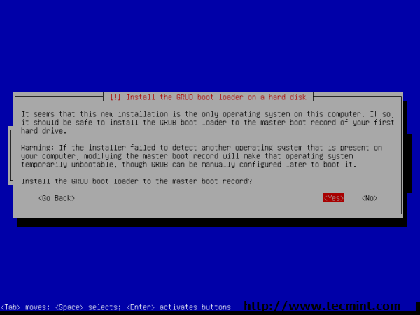 Debian 7.0 Grub Boot Loader Install