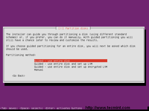 Ubuntu 13.04 Disk Partition