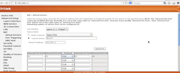 Setup Virtual Server