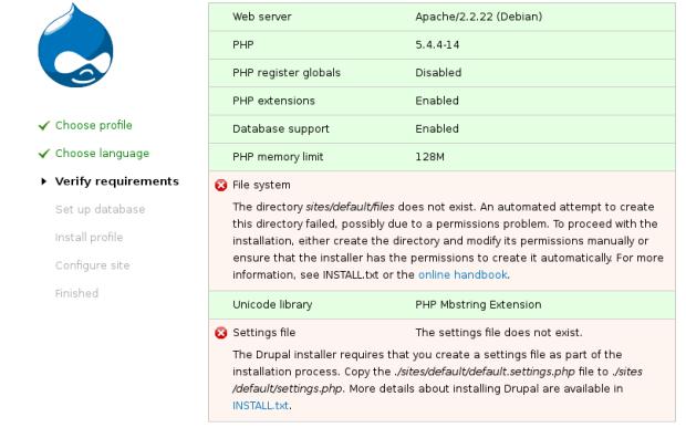Drupal File Permission Checking