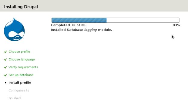 Drupal Database Installation