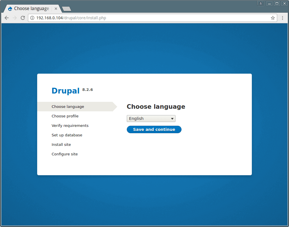 Drupal Installation Language