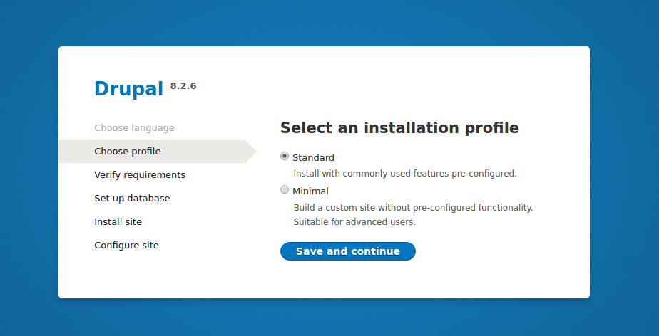 Drupal Installation Profile