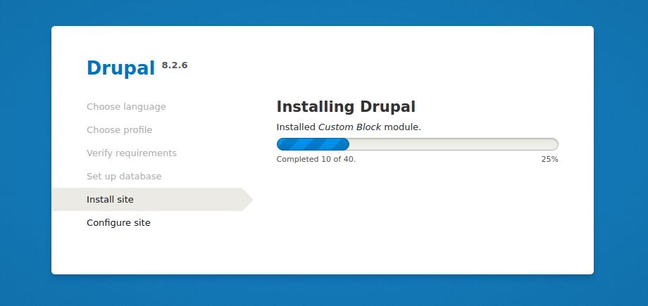 Install Drupal 8 in RHEL, CentOS & Fedora