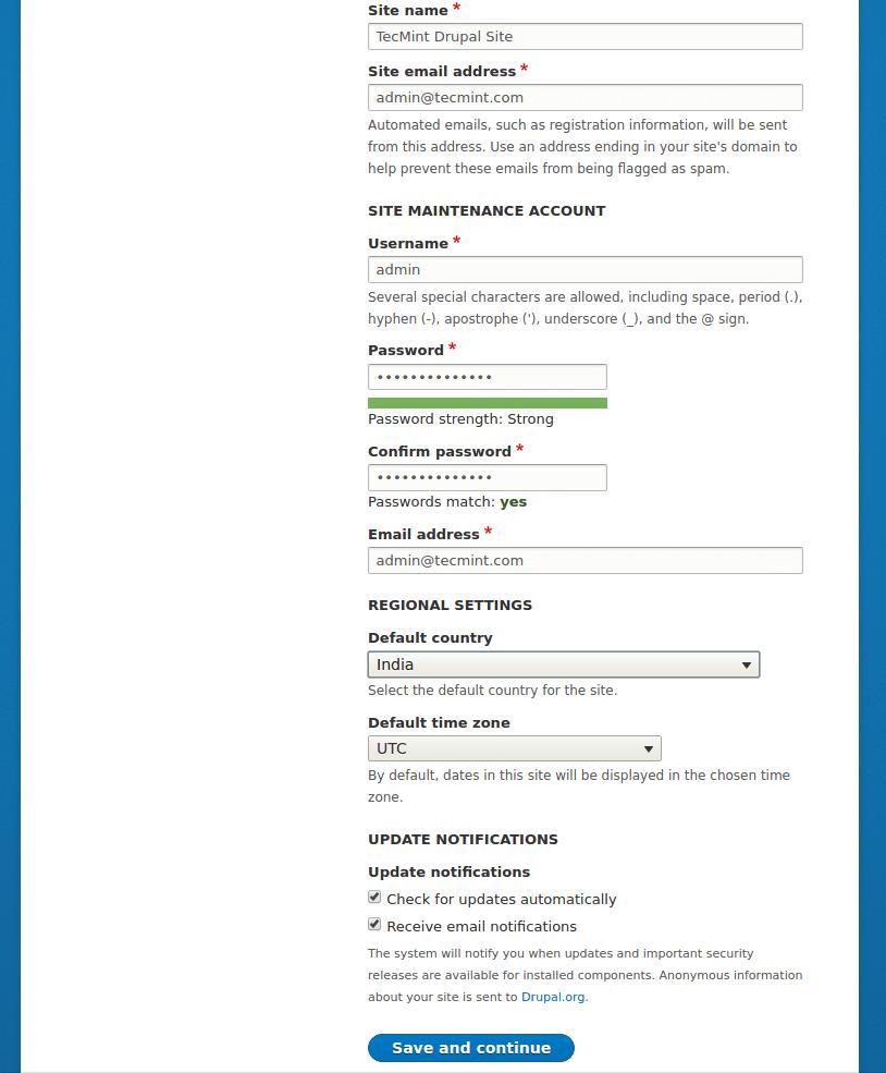 Drupal Site Configuration