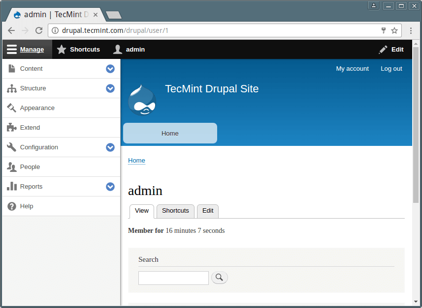 Drupal Site Dashboard