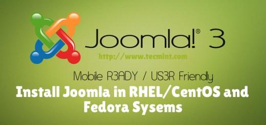 Install Joomla in CentOS RHEL Fedora
