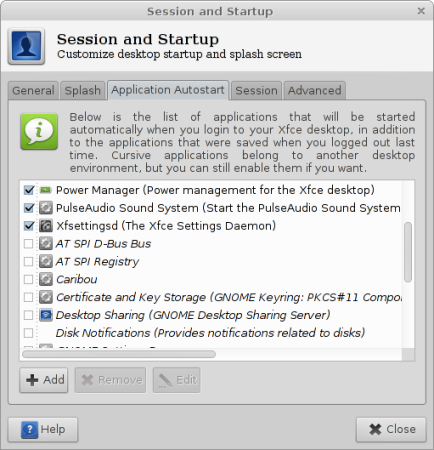 Xfce Session Manager