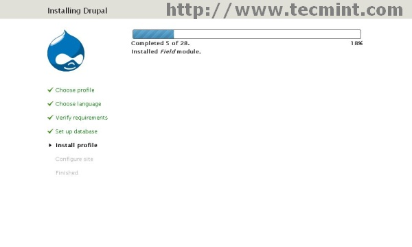 Installation of Drupal