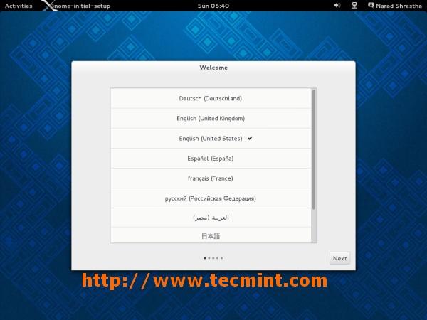 Fedora 19 GNOME Setup