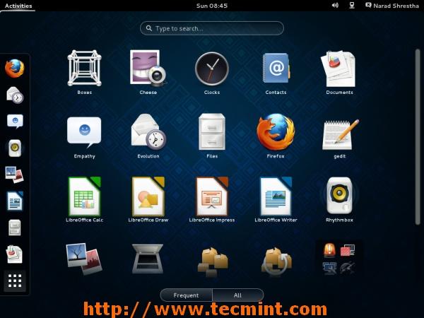 Fedora 19 Desktop Screen
